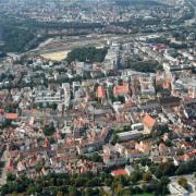 So sieht die Augsburger Innenstadt von oben aus.