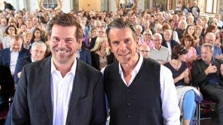 """""""Augsburger Allgemeine Live"""" im Kleinen Goldenen Saal mit Gregor Peter Schmitz und Markus Lanz."""