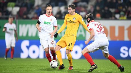 Dominik Kohr und Martin Hinteregger spielten einst für den FC Augsburg. Jetzt sind sie für Eintracht Frankfurt aktiv.