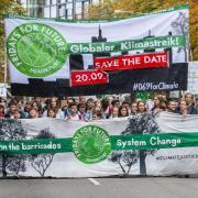 Fridays for Future in Frankfurt am Main: Anlässlich der IAA wird es eine Demonstration für nachhaltige Mobilität geben. Foto: Lennart Stock