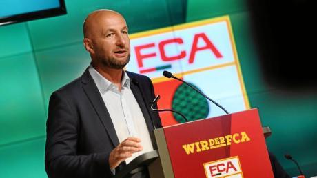 FCA-Chef Klaus Hofmann bei der Jahreshauptversammlung.