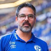 Trainer David Wagner dämpft auf Schalke die Erwartungen. Foto: Guido Kirchner