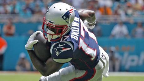 Nach nicht einmal zwei Wochen haben die Patriots Antonio Brown wieder entlassen. Foto: Al Diaz/TNS via ZUMA Wire