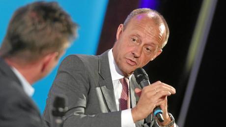 """Friedrich Merz sprach bei """"Augsburger Allgemeine Live"""" über das Rennen um den CDU-Vorsitz im vergangenen Jahr und über Greta Thunberg."""