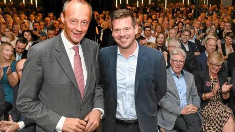 Friedrich Merz (links) mit Gregor Peter Schmitz.