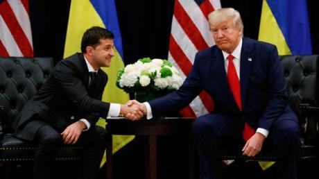 US-Präsident Trump und der ukraininische Präsident Selenskyj treffen sich am Rande der 74. Generalversammlung der Vereinten Nationen in New York.