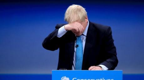 Boris Johnson, Premierminister von Großbritannien, auf dem Tory-Parteitag in Manchester. Foto: Peter Byrne/PA Wire/dpa
