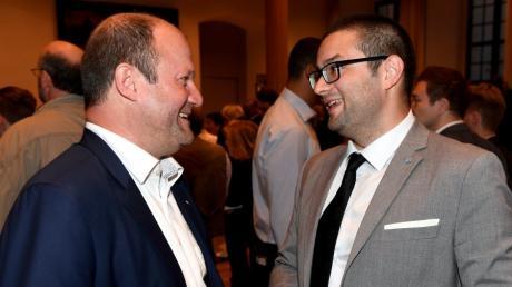 Nach der Landtagwahl im Jahr 2018 verstanden sich die Augsburger AfD-Politiker Markus Bayerbach und Andreas Jurca (rechts) noch deutlich besser.