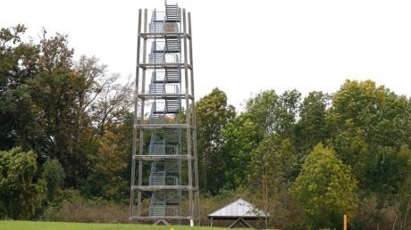 Der Aussichtsturm westlich von Offingen ist seit Jahren aus Sicherheitsgründen gesperrt. Die Sanierung würde mehr als 320.000 Euro kosten.