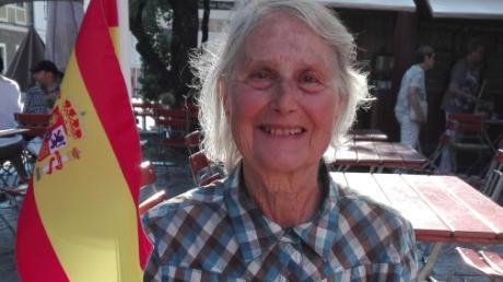 Hildegard Wurst  ist 81 Jahre und freut sich, dass sie beim Programm Friedberg spricht... ihre Spanischkenntnisse auffrischen kann.
