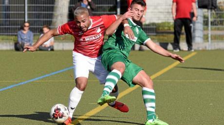 Fußnall Bezirksliga Nord. TSV Rain/ Lech spielt gegen FC Affing.