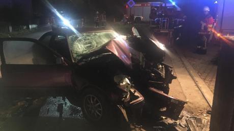 Auf der Wertinger Straße in Höchstädt ereignete sich am Montagabend ein Unfall.