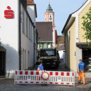 Kirchenstraße Nassauerstraße gesperrt