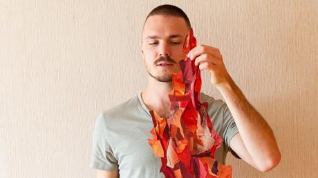 Fast plastisch wirken die neuesten Werke von Markus Wülbern.