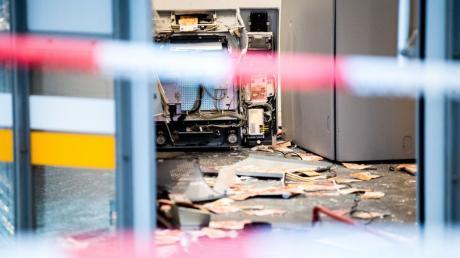 Geldautomat in Augsburg gesprengt