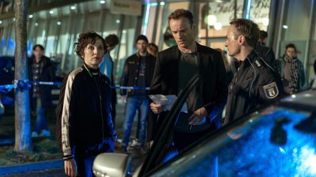 """Nina Rubin (Meret Becker) und Robert Karow (Mark Waschke) sind in diesem Fall voll gefordert: Szene aus dem Berliner Tatort """"Das Leben nach dem Tod"""", der gestern in der ARD lief."""