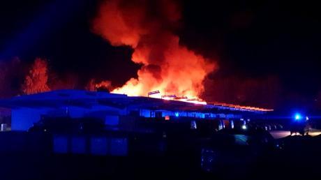 Feuer in Briefzentrum
