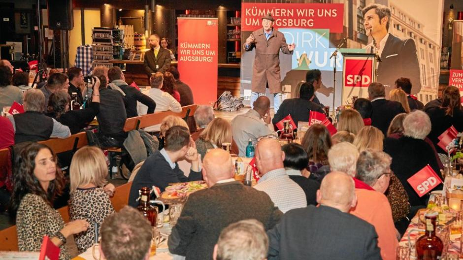 Wahlkampfauftakt, SPD Augsburg, Kälberhalle, Dirk Wurm,