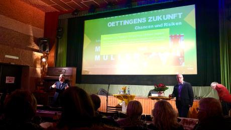 Matti Müller war als Referent in der Goldenen Gans in Oettingen.
