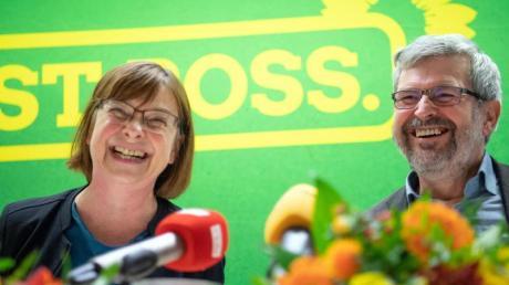 Sollen Ministerposten in Brandenburg bekommen: Ursula Nonnemacher und Axel Vogel (beide Grüne). Foto: Soeren Stache/dpa-Zentralbild/dpa