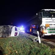 Unfall B 300 bei Kühbach 19 11 2019