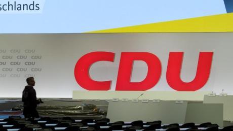 Blick in die Halle für den CDU-Bundesparteitag.