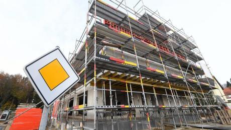 Die Baustelle für die neue Polizeiinspektion Burgau.