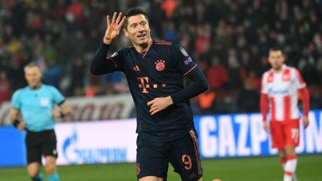 Vier Treffer gehen auf das Konto von Bayern-Stürmer Robert Lewandowski.