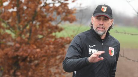 Augsburg gegen Hoffenheim im Live-Ticker - Spielstand, Ergebnis, Spielplan. Im Bild: Augsburg-Coach Martin Schmidt.