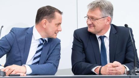Die neue AfD-Führung: Jörg Meuthen (r.) und Tino Chrupalla, der Alexander Gauland ablöst.