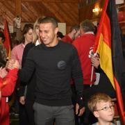 FC Bayern-Spieler Thiago Alcántara in Fünfstetten.