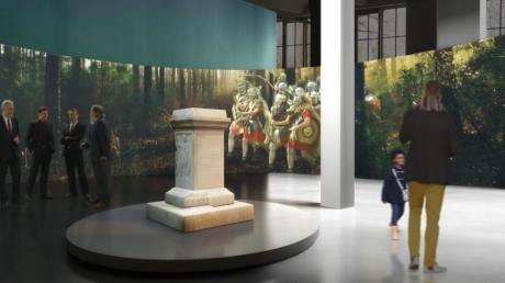 Die CSU möchte eine digitale Römerschau Römerausstellung im Glaspalast. Im Mittelpunkt soll der Siegesaltar stehen.