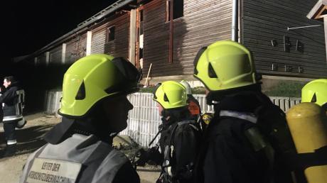 In Bissingen hat ein Schweinestall gebrannt.