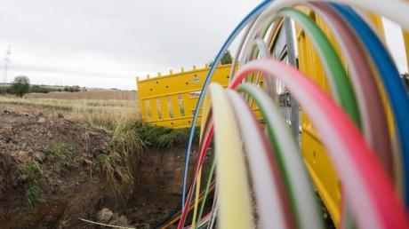 Leerrohre für Glasfaserleitungen für schnelles Internet.