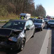 Nach einem Auffahrunfall ist die A7 zwischen Vöhringen und Illertissen gesperrt.