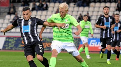 Ardian Morina erzielte das erste Ulmer Tor gegen den FC Homburg.