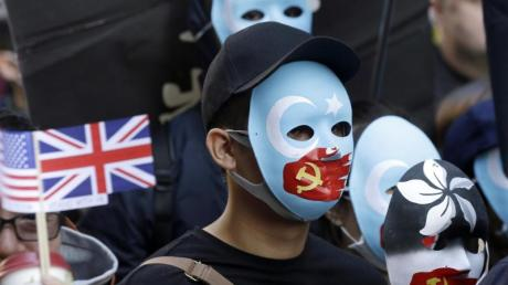 Pro-demokratische Demonstranten während eines Protestmarsches in Hongkong.