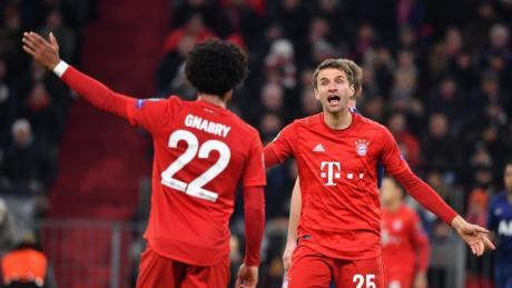 Serge Gnabry bereitete das 1:0 von Coman vor, Thomas Müller traf zum 2:0 für den FC Bayern.
