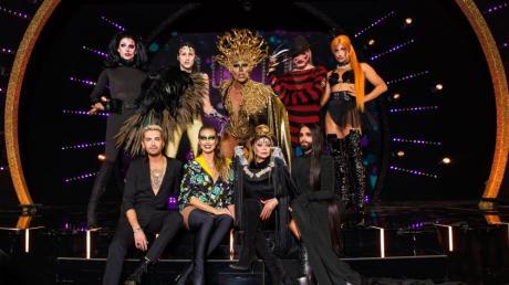 """""""Queen of Drags"""", Folge 5 am 12.12.19: Im Halbfinale hieß das Motto """"Horror und Halloween"""". Mit dabei war Gastjurorin La Toya Jackson."""
