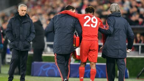 Kingsley Coman musste frühzeitig das Feld mit einer Knieverletzung verlassen. Er fällt allerdings nicht allzu lange aus.