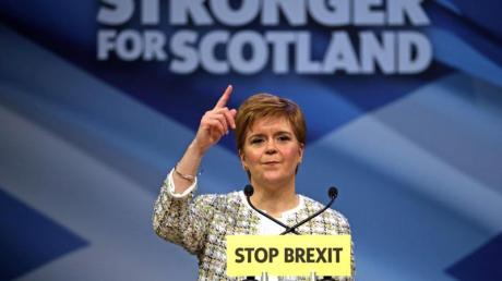 Nicola Sturgeon, Schottlands Premierministerin und SNP-Vorsitzende, Ende November in Glasgow.