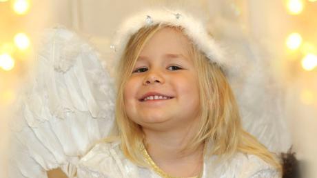 Hannah aus Salgen als Christkind.