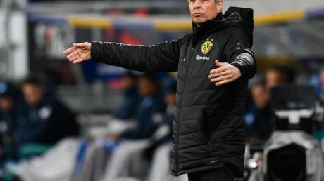 BVB-Trainer Lucien Favre wirkte nach der Niederlage gegen Hoffenheim ratlos.