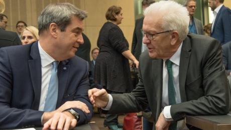 Markus Söder peilt im Fall des Endes der Groko eine Zusammenarbeit mit den Grünen an.