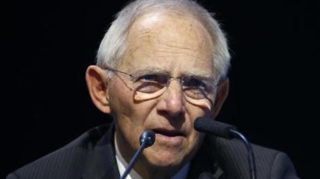 Bundestagspräsident Wolfgang Schäuble: «Es gibt Klimaschutz nicht zum Nulltarif.».