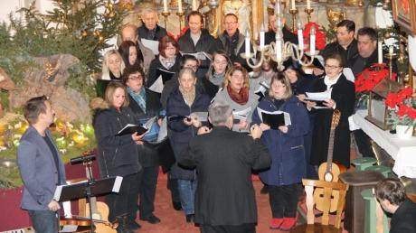 Der Hüttinger Kirchenchor veranstaltete zum 21. Mal sein Weihnachtskonzert.