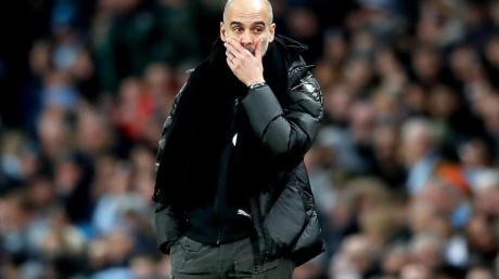 Glaubt nicht mehr an den Meister-Titel: Manchester Citys Coach Pep Guardiola.