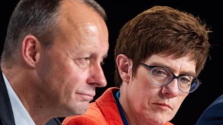 Friedrich Merz und Annegret Kramp-Karrenbauer im November 2018 bei einer CDU-Regionalkonferenz.