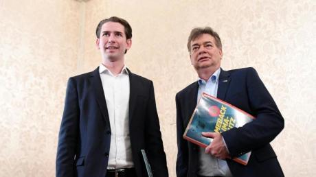 So fing alles an: Österreichs Kanzler Sebastian Kurz (ÖVP) und Grünen-Chef Werner Kogler (rechts).