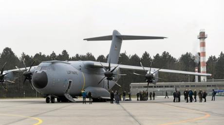 Ende November fand ein Demonstrationsflug des A400M über dem Lechfeld statt.